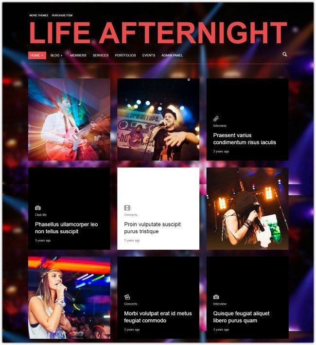 Afternight - A Stylish Minimalist Responsive Theme