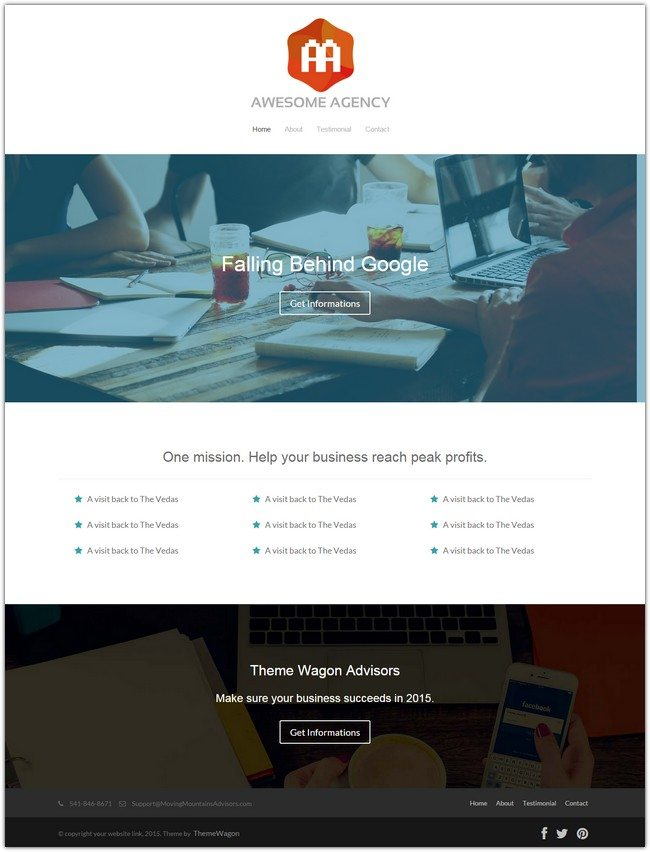 Agency - Free HTML5 Agency Website Template