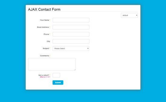 Ajax PHP Contact Form with CSV Exporter & Filters
