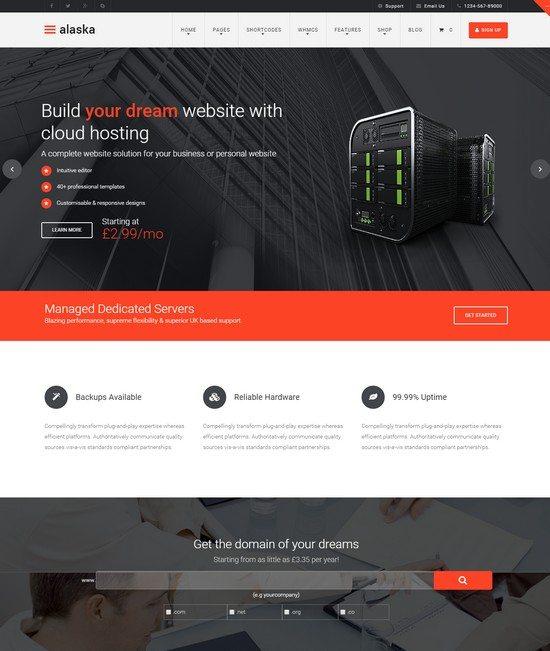 Alaska - Responsive HTML CSS Hosting Template