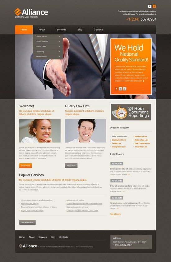Alliance Law Firm WordPress Theme