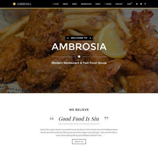 Ambrosia - Creative Restaurant HTML5 Template