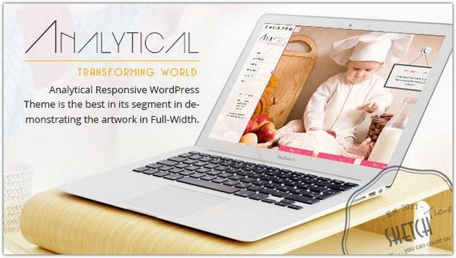 Analytical full Width WordPress Theme