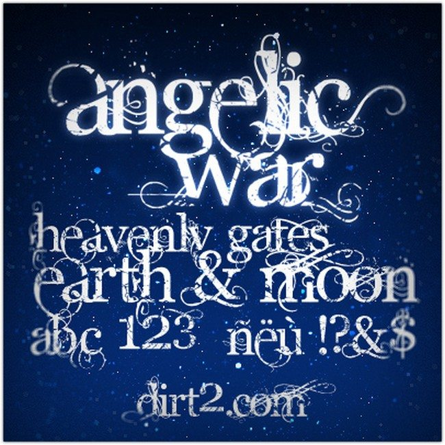 Angelic War – Free Font