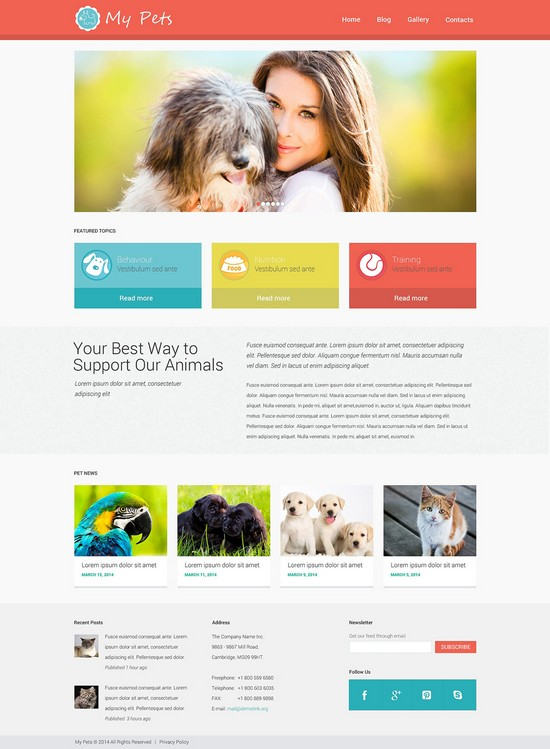 Animal Planet WordPress Theme