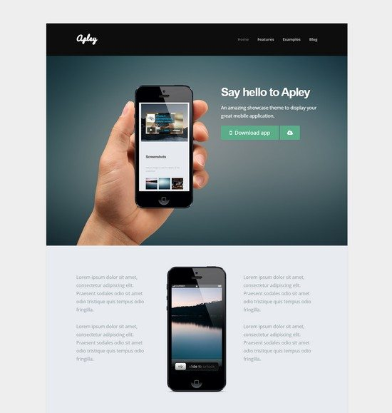 Apley - A Mobile Application Landing Page