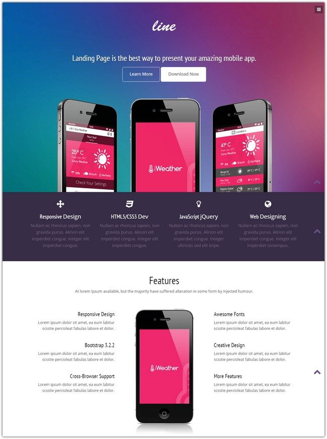 App Lander Responsive Bootstrap Template