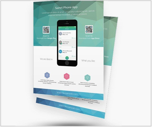 App Promotion Flyer Templates Free PSD