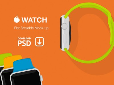 Apple Watch Flat Scalable Mockup