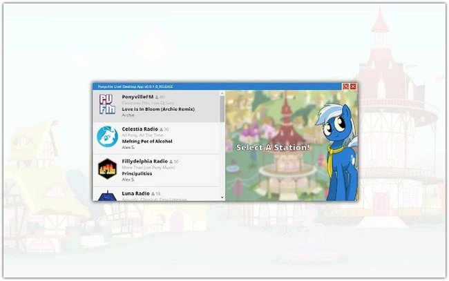 ApplicationPonyville Live! Desktop App