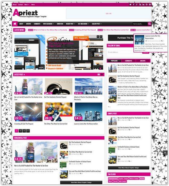 Apriezt - Responsive Magazine News Blogger Theme