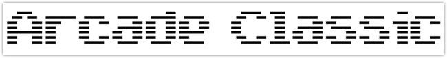 Arcade Classic font