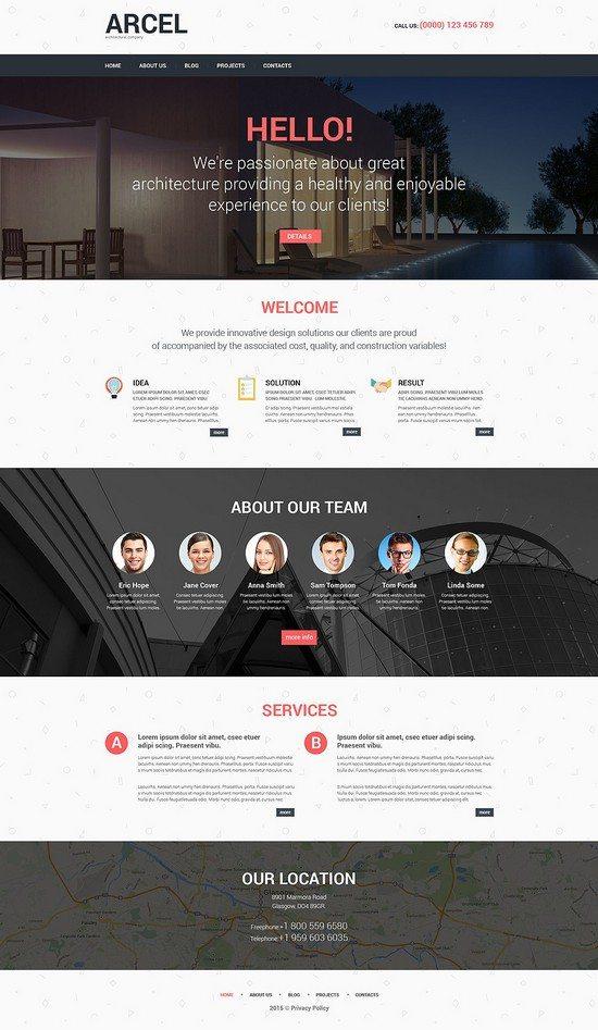 Arcel Architecture Responsive WordPress Theme