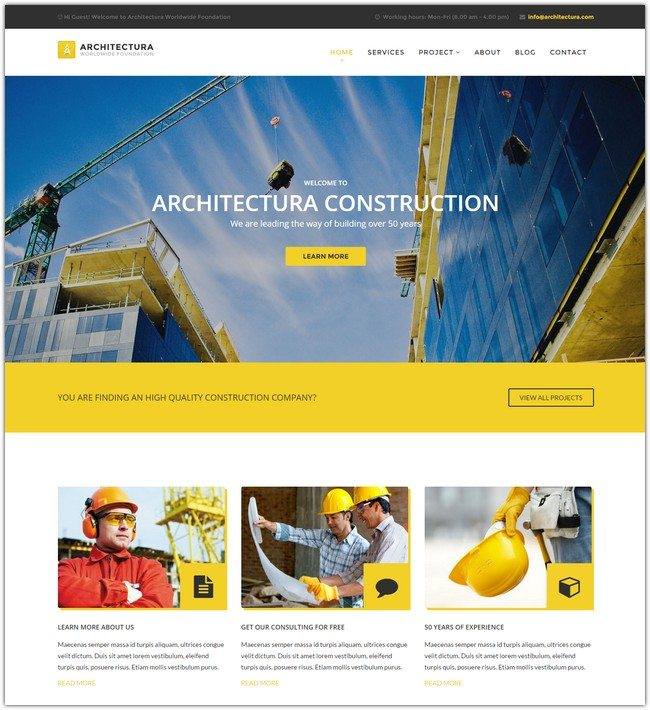 Architectura Construction & Building Template