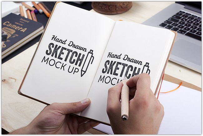 Art Book MockUp PSD #2