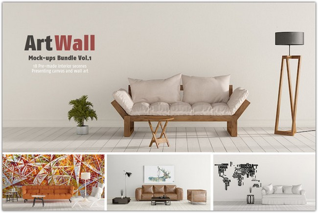 Art Wall Mock-ups Bundle VOL.1