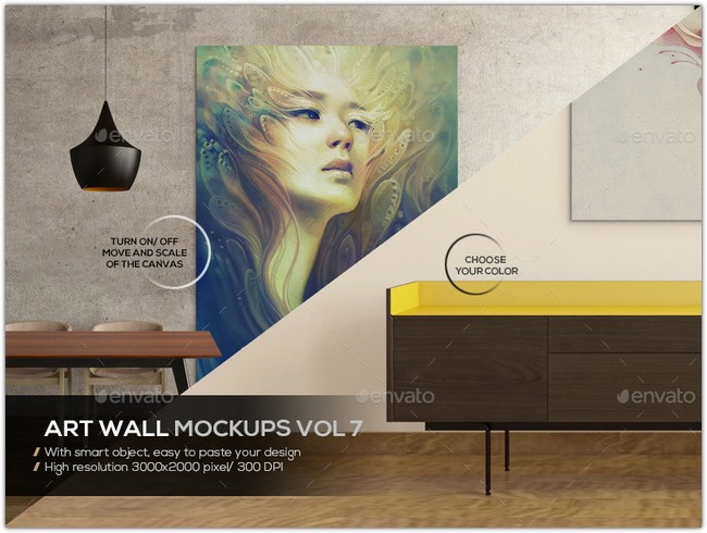 Art Wall Mockups Vol7