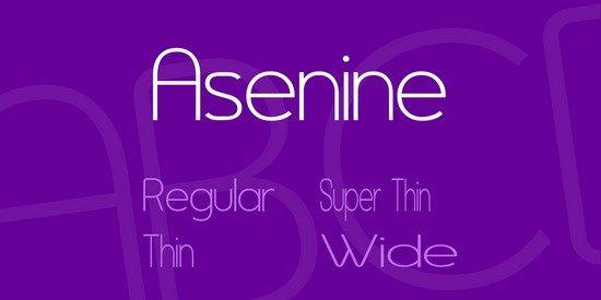 Asenine Font Family