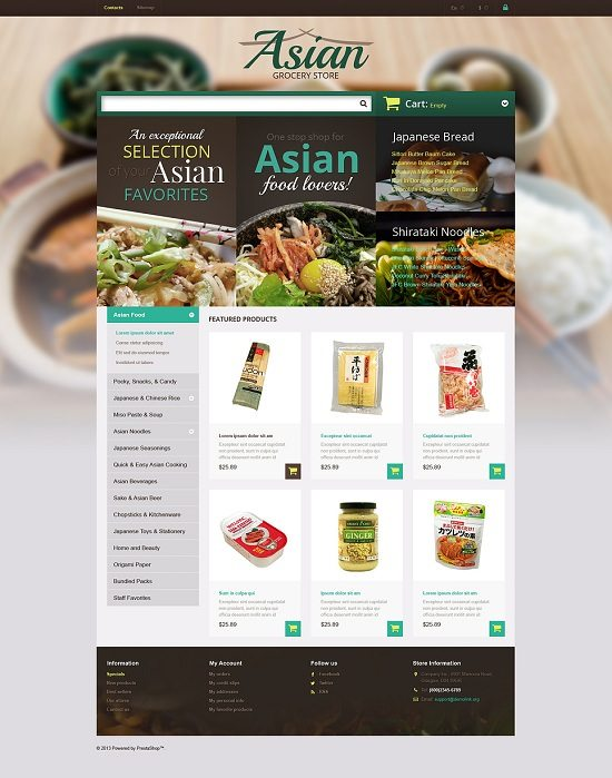 Asian Grocery Store PrestaShop Theme