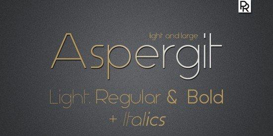 Aspergit Font Family