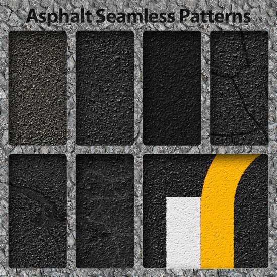 Asphalt and Lines Patterns