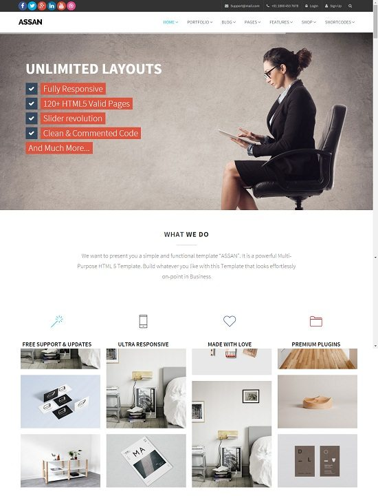 Assan – Clean Multi-Purpose Template