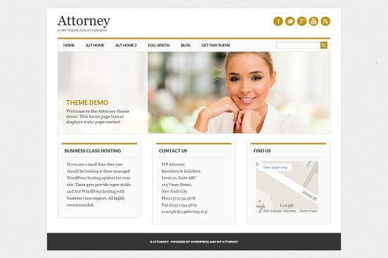 Attorney Lawyer WordPress Theme