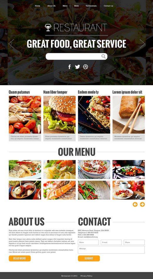 Attractive Restaurant Joomla Template