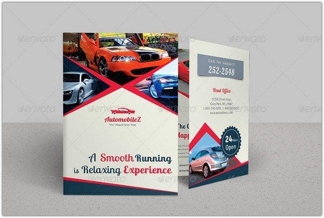 Automobile Business Bi-fold Brochure Bundle