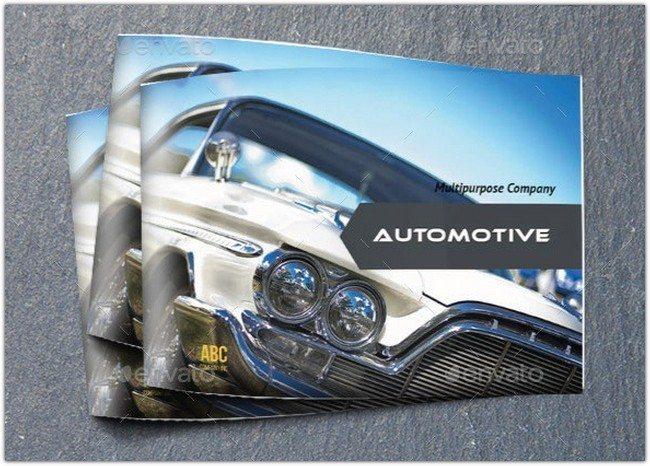 Automotive Catalog Brochure Indesign Template