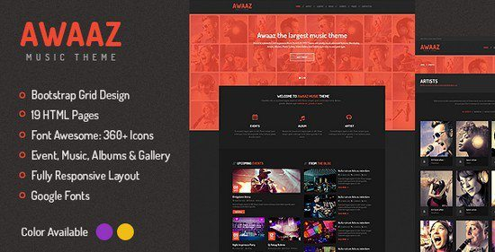 Awaaz-Music-Responsive-HTML5-Template