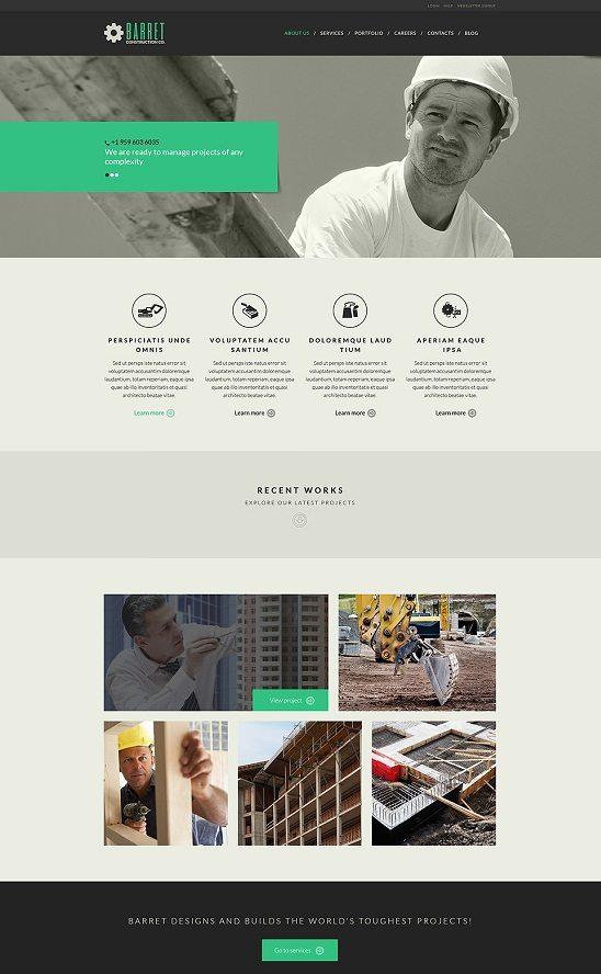 BARRET Construction Company WordPress Theme