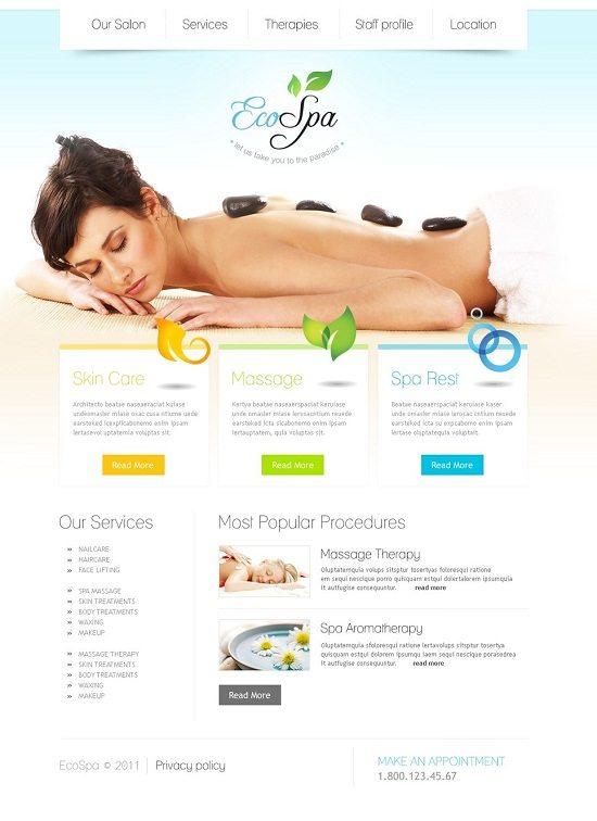 BEco spa Beauty Salon WordPress Theme