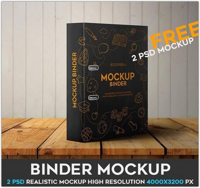 BINDER – 2 FREE PSD MOCKUPS