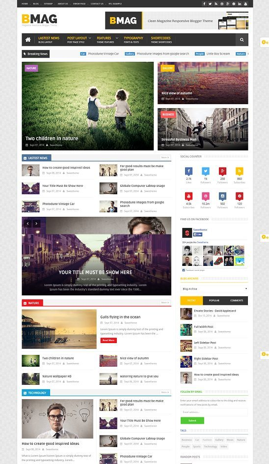 BMAG - Magazine Responsive Blogger Template