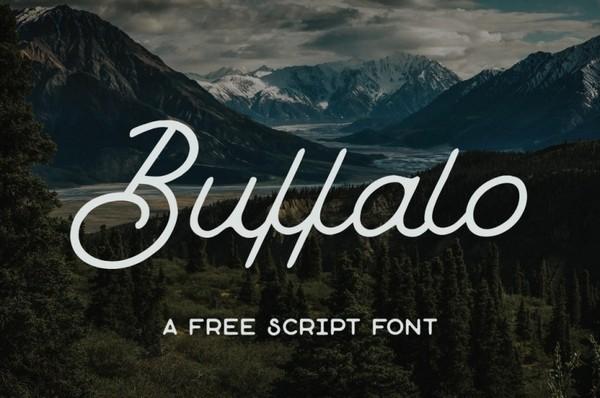 BUFFALO – FREE MONOLINE SCRIPT