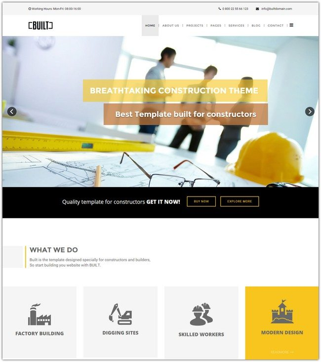 BUILT Construction Business Joomla Template