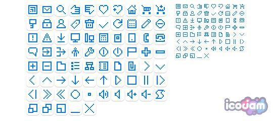 BacktoPixel free icons