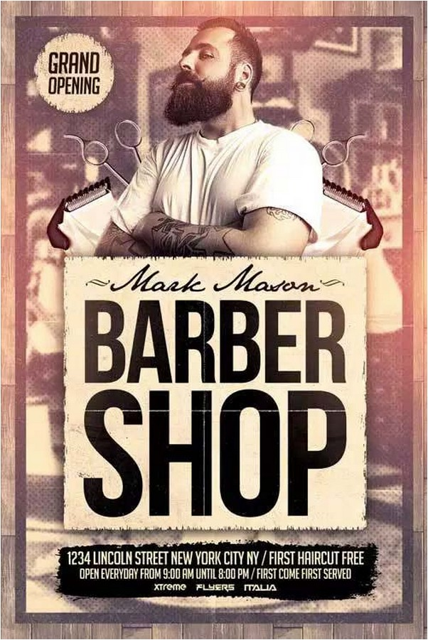 24 Creative Barbershop Flyer Templates Design 2018 Templatefor