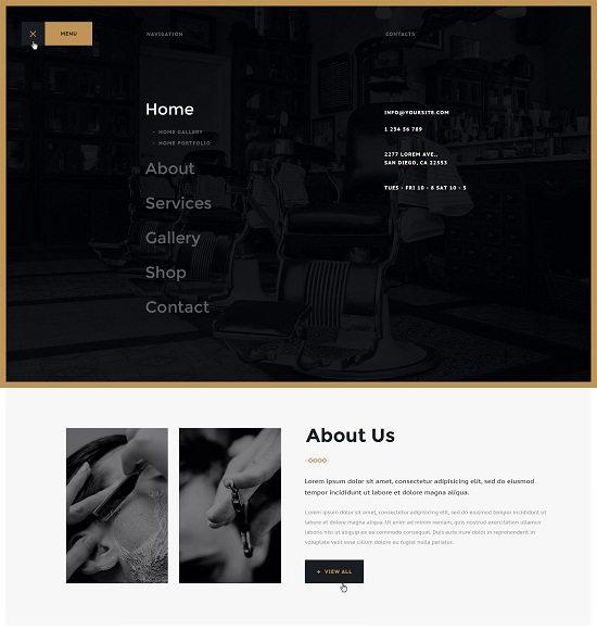 Barbershop & Tatoo WordPress Theme