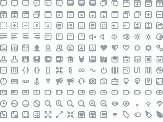 Batch 300+ icons for web and user interface design