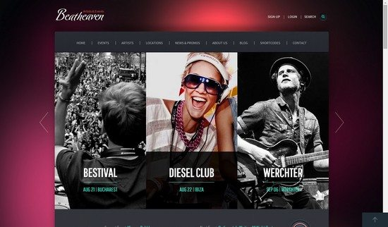 Beatheaven – Music WordPress Theme