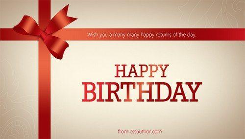 Beautiful Birthday Greetings Card PSD