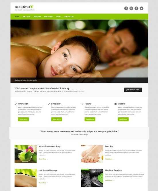 Beautiful - Spa and Beauty WordPress Theme