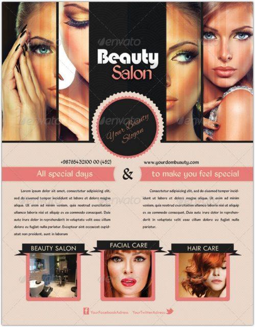 Beauty Salon Flyer & Postcard