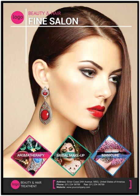 Beauty and Hair Salon Flyer