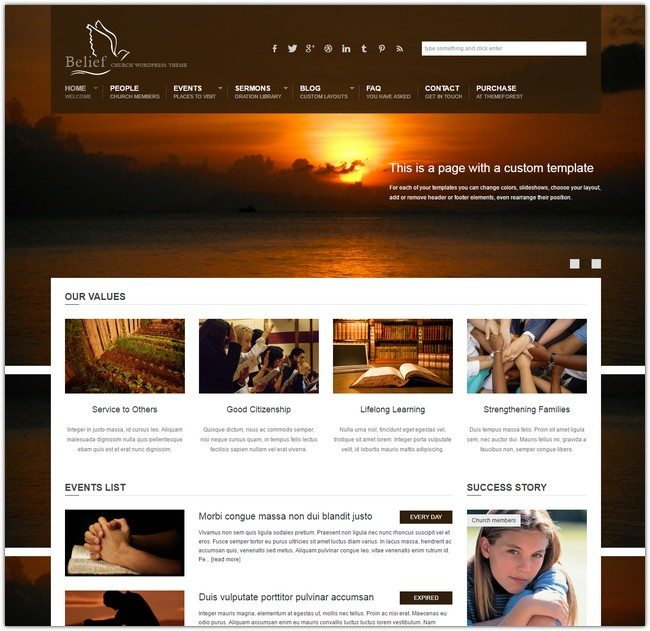 Belief – Church WordPress Theme