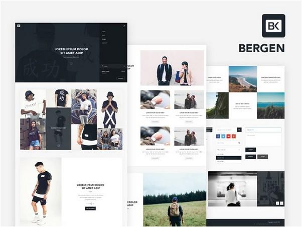 Bergen Free UI Kit PSD