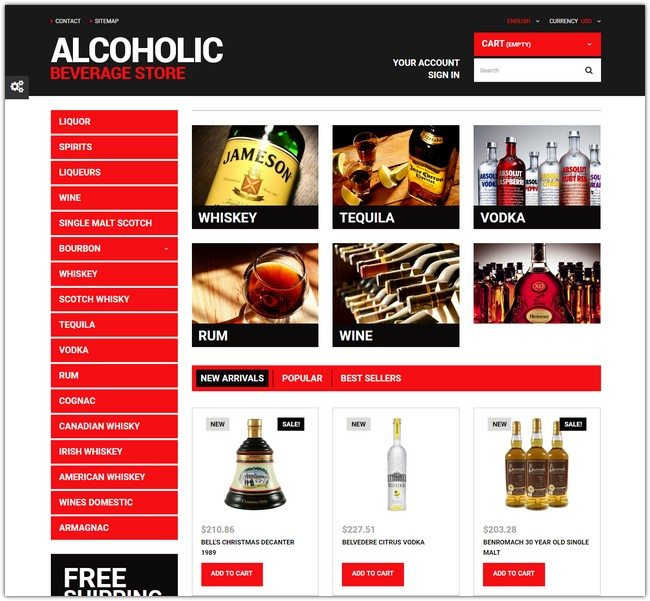 Beverage Planet PrestaShop Theme