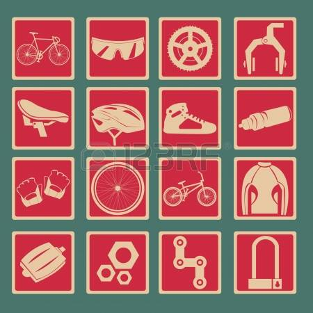 Bicycle Icon Set Basic Style